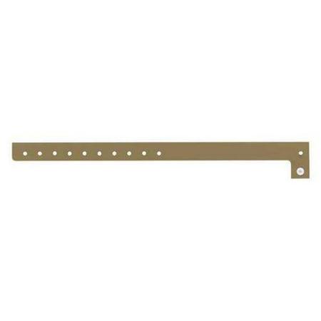 IDENTIPLUS P1-11 ID Wristband,Plastic,L-Shaped,Gold,PK500 G3346430](Plastic Wristbands)