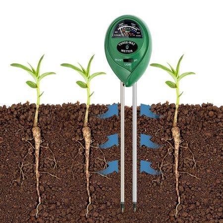 3-in-1 Digital PH Acidity Meter Multifunctional Soil Tester Moisture Meter Sunlight Intensity Measurement Analysis