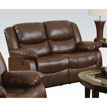 ACME Fullerton Reclining Loveseat in Brown Bonded Leather Match