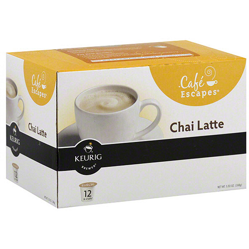 ***Discontinued by kehe 08_11***Cafe Escapes Chai Latte K-Cups Flavored Tea Beverage, 5.93 oz, 12ct (Pack of 6)
