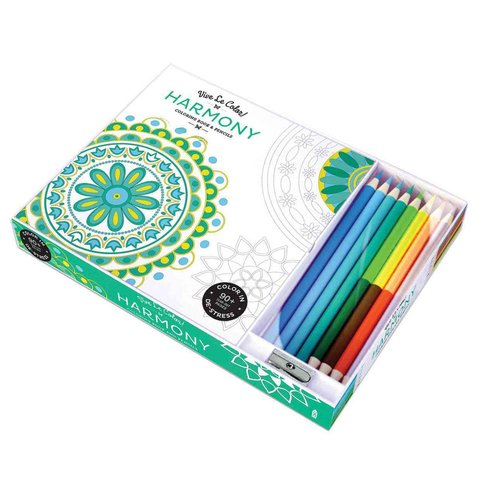 Harmony Adult Coloring Book: Coloring Book & Pencils