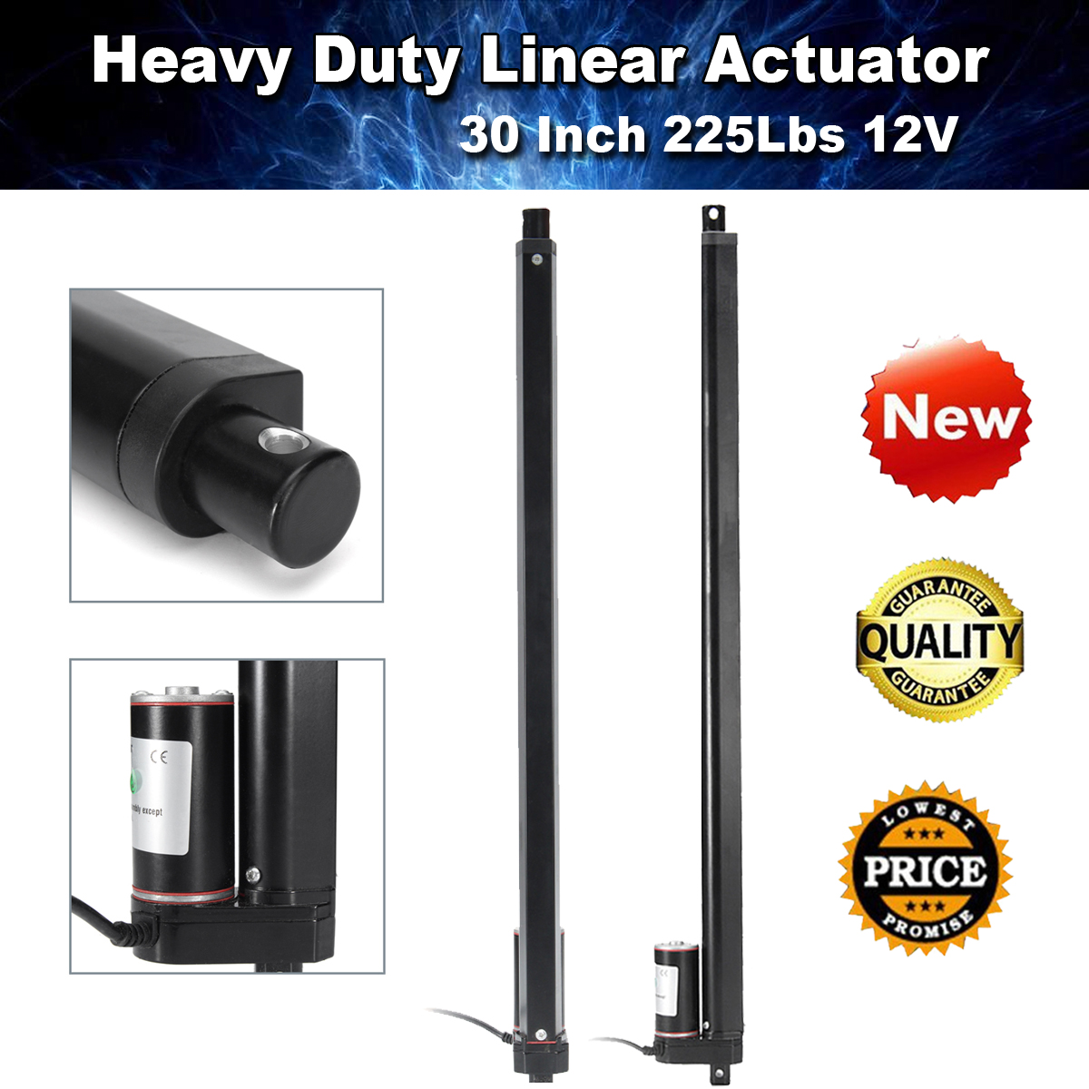 "20"" 30"" Heavy Duty Linear Actuator Motor Electric Industry Lift 900N/225Lbs 12V"