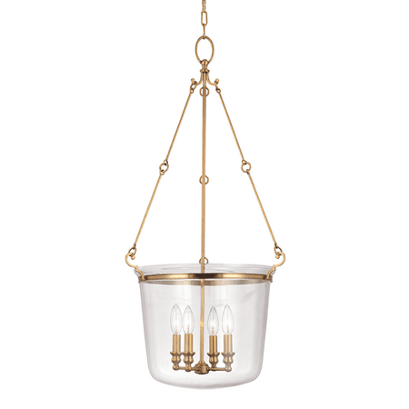 Hudson Valley Quinton 4 Light Pendant in Aged Brass - 134-AGB