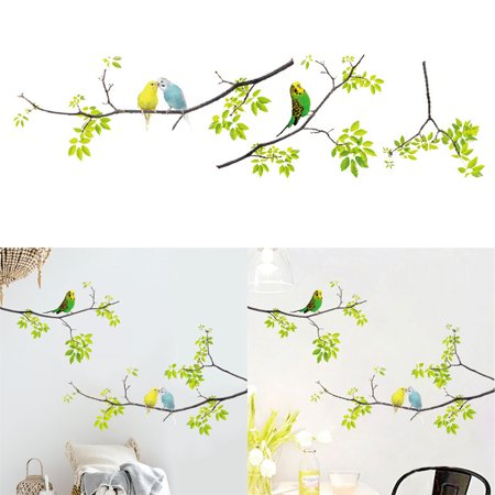 Wall Stickers, Justdolife Removable Bird Perch Branch Pattern Wall Murals Decal Art Sticker Quotes for Kids Home Bedroom Living Room Decor