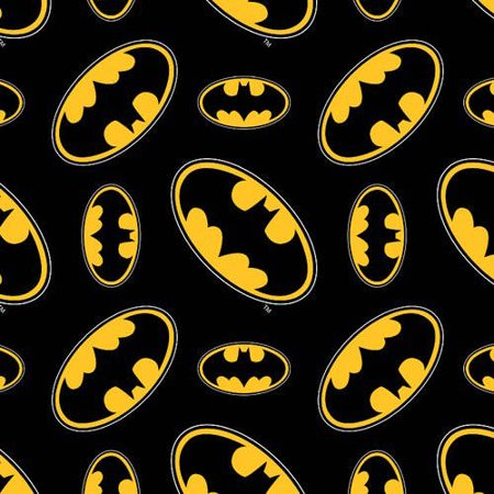 Batman Logo 100% Cotton Fabric by the Yard For Quilting And Crafting Officially Licensed From DC Comics