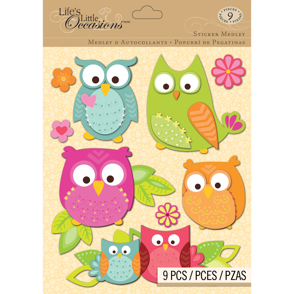 Lifes Little Occasions Sticker Medley-Owl Multi-Colored
