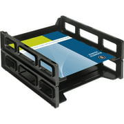 Business Source Front-Load Stackable Letter Tray, 1 Each