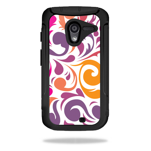 Mightyskins Protective Vinyl Skin Decal Cover for OtterBox Defender Motorola Moto X Case wrap sticker skins Swirly Girly
