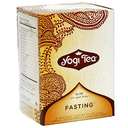 Yogi Tea Healthy Fasting Herbal Supplement Tea Bags, 16 count, 1.12 oz, (Pack of 6)