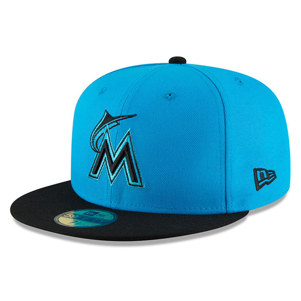Miami Marlins New Era 2018 Players' Weekend On-Field 59FIFTY Fitted Hat - Blue/Black