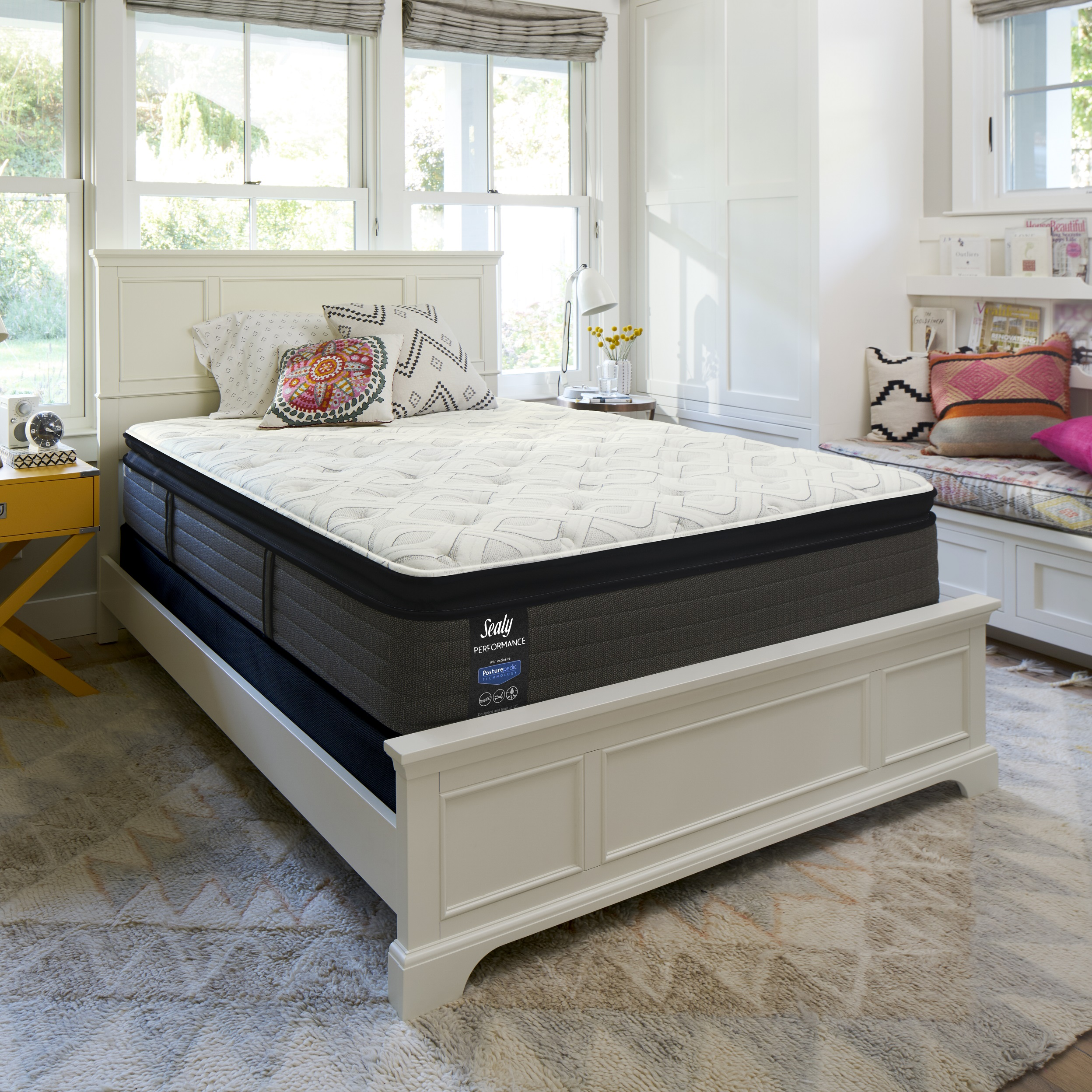 """Sealy Response Performance 14"""" Plush Euro Pillowtop Mattress In Home White-Glove... by Sealy"""