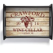 Personalized Wine Lovers Serving Tray