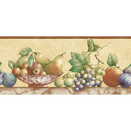 Still Life Fruit Wallpaper Border