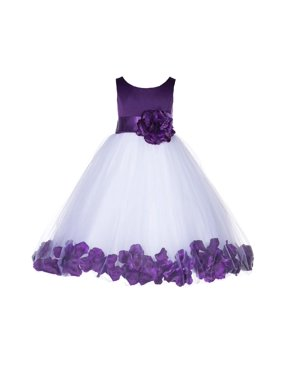 de915fdae0 Product Image Ekidsbridal Rose Petals Tulle Flower Girl Dress Wedding  Pageant Toddler Easter Recital 167T purple size 2