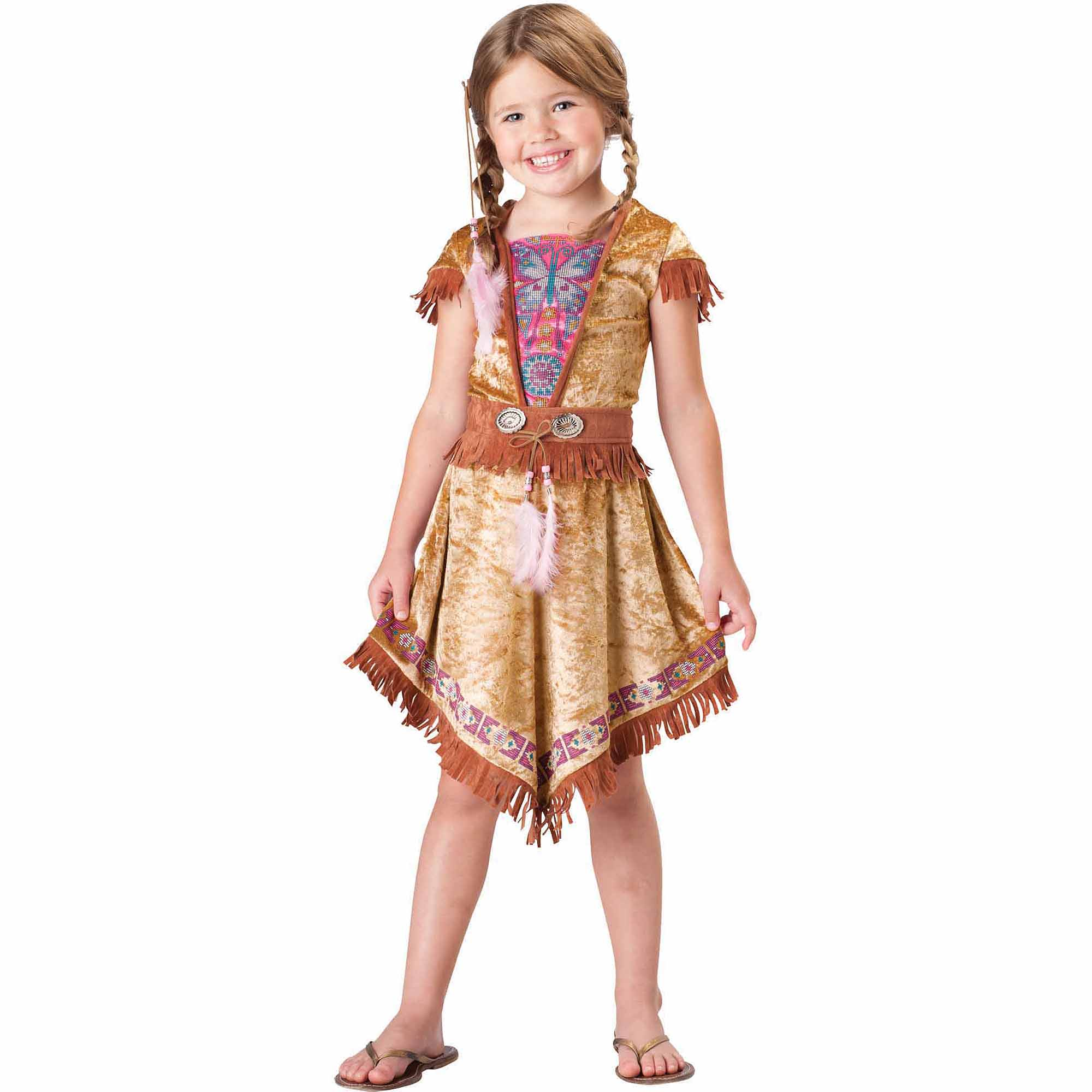 This native american maiden costume removed (has