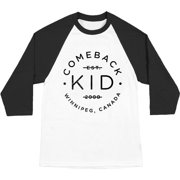 Comeback Kid Men's  Stamp Baseball Jersey White