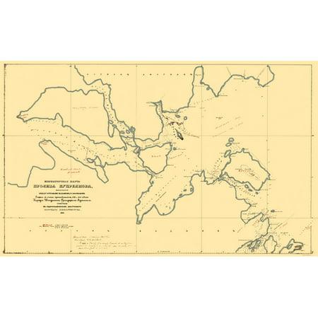 Kodiak Island Alaska Map.Old State Map Kodiak Island Alaska Murashev 1849 23 X 37 35