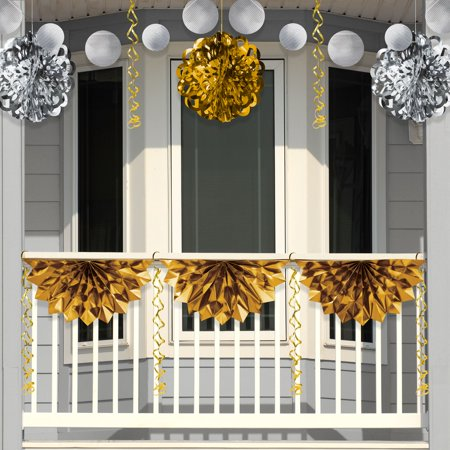 Silver and Gold Foil Decorations - Gold And Silver Decorations