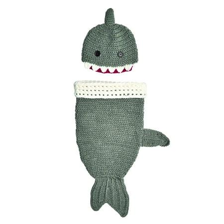San Diego Hat Company Knit Shark Beanie with Knit Shark Tail Set by - Shark Beanie