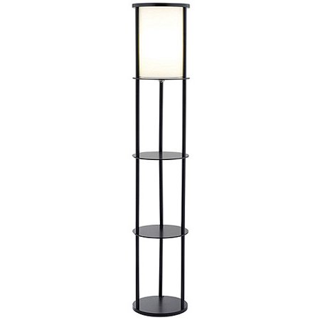 "62.5"" Stewart Shelf Floor Lamp Black - Adesso"