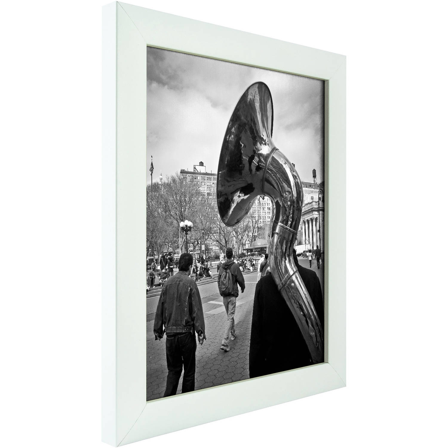 Craig Frames Contemporary White Satin Picture Frame