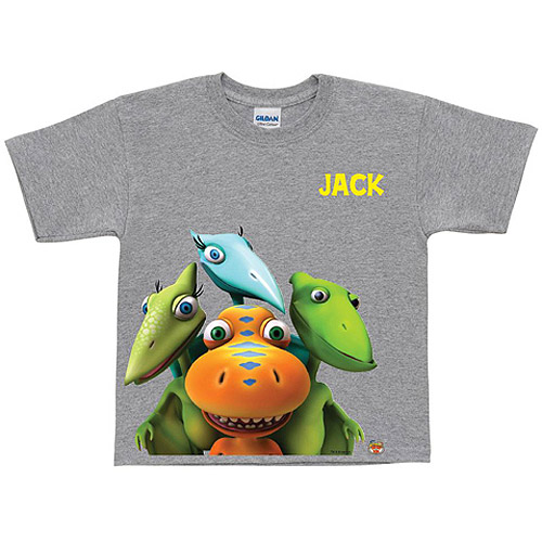 Personalized Dinosaur Train Group Gray Boys' T-Shirt