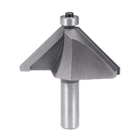 """Chamfer Router Bit 1/2 Shank 1-1/2"""" Dia 45 Degree High Carbon Steel with Bearing - image 5 de 5"""