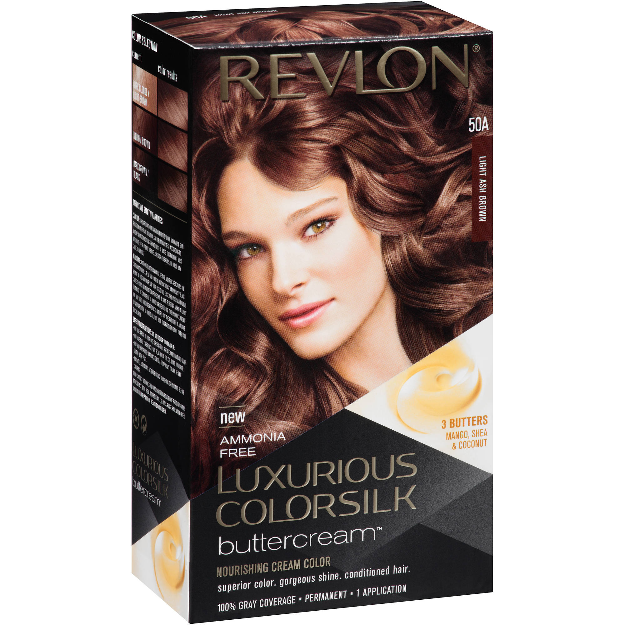Revlon Luxurious Colorsilk Buttercream Nourishing Cream Color, 50A Light Ash Brown