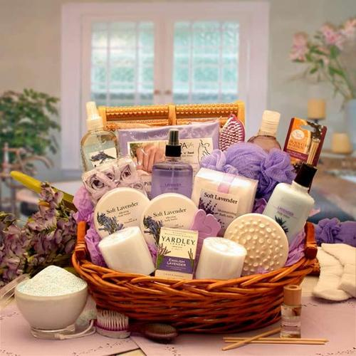 Gift Basket Drop Shipping 8413112 The Essence of Lavender Spa Gift Basket