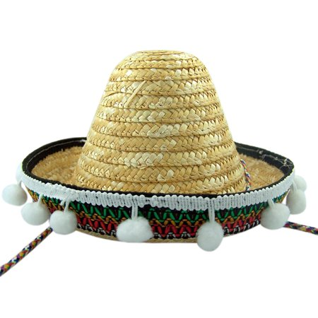 Mexican Sombrero Fiesta Party Hat Comstume Accessory, 7 Inch - Sombreo Hat