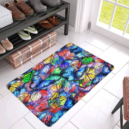 POP Butterfly of Colorful Butterflies Flying Doormat Non Slip Indoor/Outdoor Doormat Floor Mat Home Decor Entrance Rug 30x18 inches - image 3 of 3