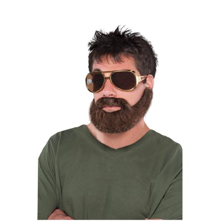 Wacky Facial Hair Hungover Beard/Mustache Self Adhesive Costume Accessory - Beard And Mustache Costume