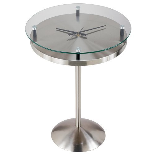 Adesso Floating Glass Clock Time Table