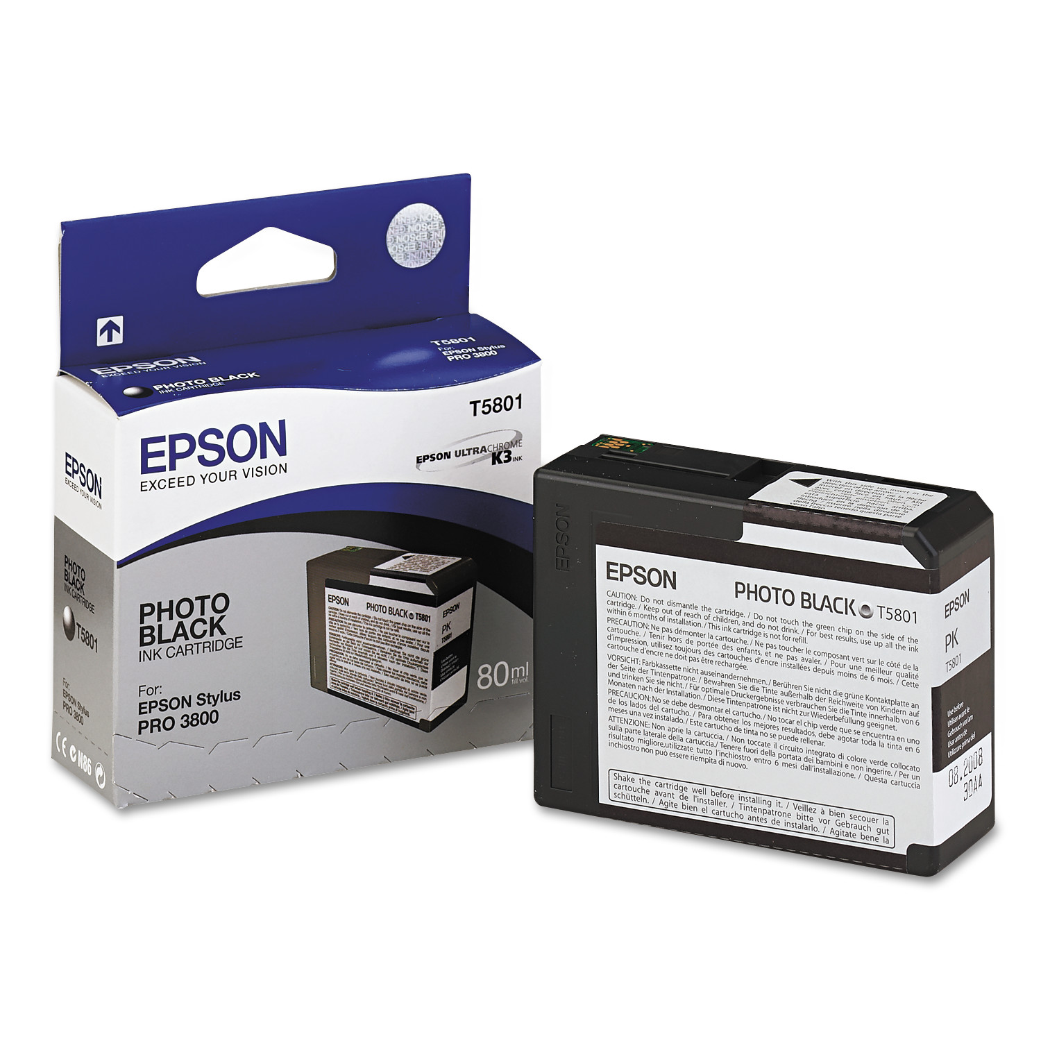 Epson T580100 UltraChrome K3 Ink, Photo Black by Epson