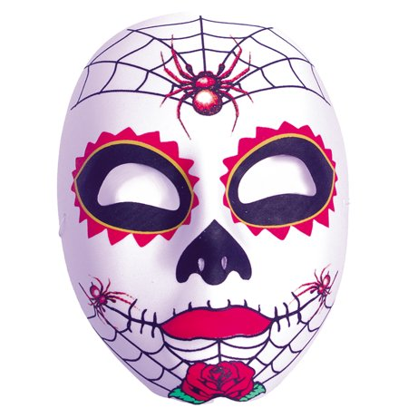 Dia De Los Muertos Womens Adult Spider Skull Mask Accessory ()