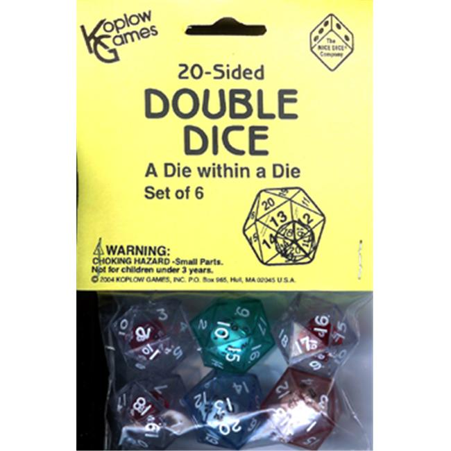 KOPLOW GAMES INC. KOP12622 20 SIDED DOUBLE DICE