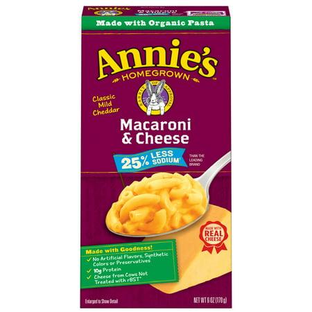 Annies  Natural 25  Less Sodium Macaroni   Mild Cheddar Mac   Cheese
