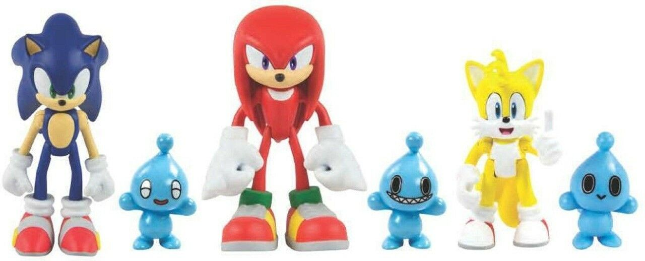 Action Figures - Sonic The Hedgehog - Sonic, Knuckles, Tails With Chao Pets  - 3