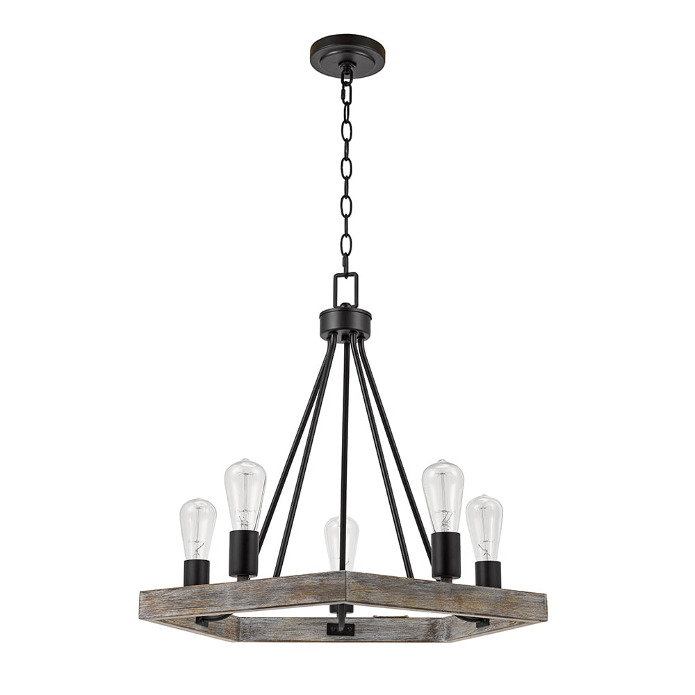 Click here to buy Better Homes & Gardens 5-Light Wood and Metal Chandelier by Evolution Lighting LLC.