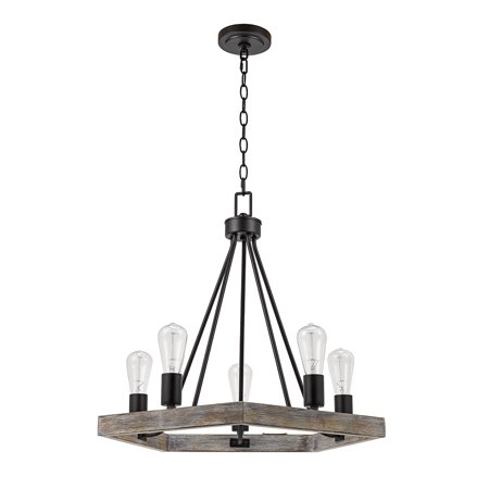 Better Homes & Gardens 5-Light Wood and Metal Chandelier