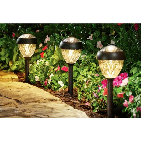 Better Homes And Gardens Park View Solar Powered Landscape Light Brushed Bronze Finish