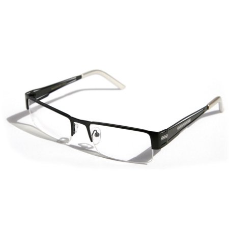 Semi Rimless Readers (Men Rectangular Half Rimless Metal Reader Reading Glasses Sophisticate look )