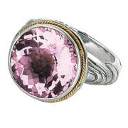 Phillip Gavriel 18k Gold & Sterling Silver Pink Amethyst Ring, Size 7