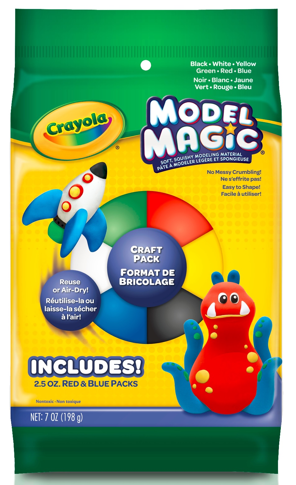Crayola Model Magic Craft Set, Clay Alternative, Slime Ingredient, 7oz by Generic