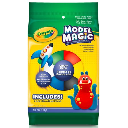 Crayola Clay Alternative Slime Ingredient Model Magic Craft Set, 7