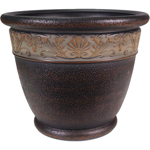 "Better Homes and Gardens Richmond 15"" Decorative Planter, Light Bronze"