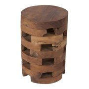 Crafted Home Aldora Tan Round End Table