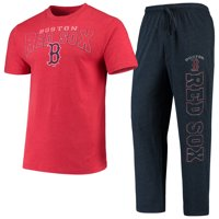 Boston Red Sox Concepts Sport Topic T-Shirt & Pants Sleep Set - Heathered Red/Navy