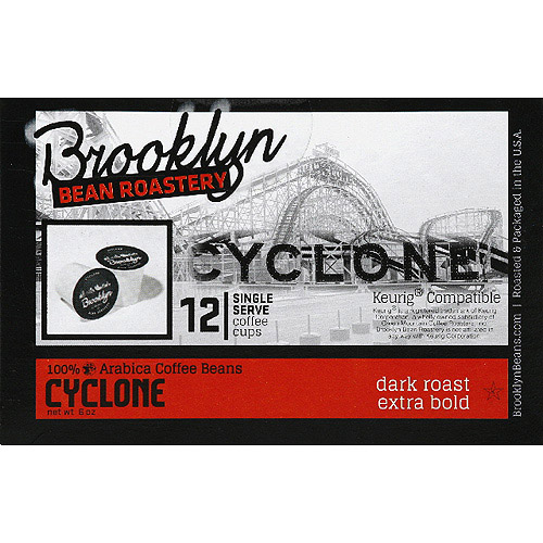 Brooklyn Bean Roastery Cyclone Coffee K-Cups, 12 count, (Pack of 6)