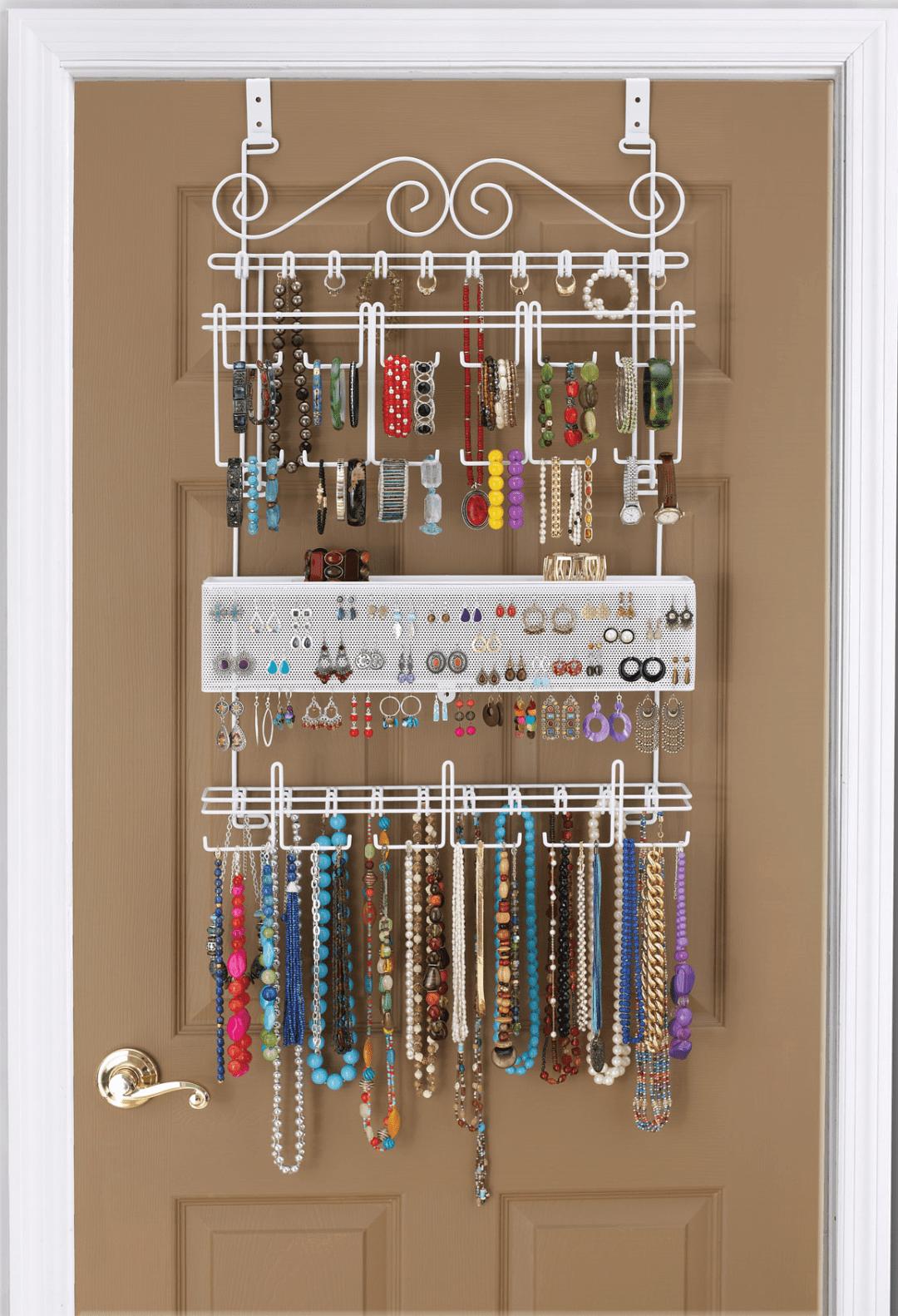 Closet Jewelry Rack Image Of Bathroom And Closet